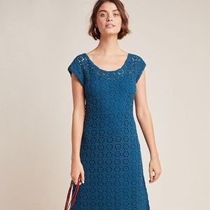 Brittania Crochet Midi Dress by Anthropologie